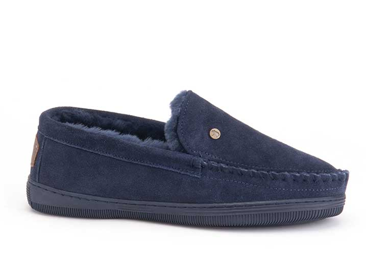 Warmbat Grizzly Men Suède Dark Navy